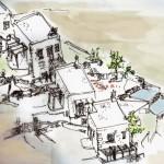 Μελέτη Συγκροτήματος Τεσσάρων Εξοχικών Κατοικιών -Τζιά